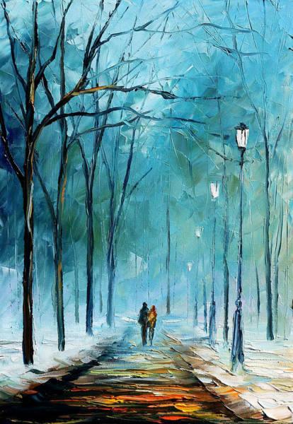 City Lights Painting - Winter by Leonid Afremov