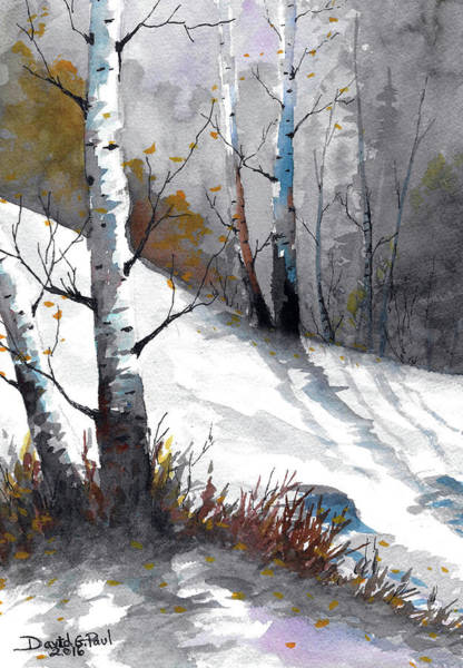 Wall Art - Painting - Winter Light by David G Paul