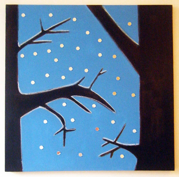 Morea Wall Art - Painting - wINTER by Mara Morea
