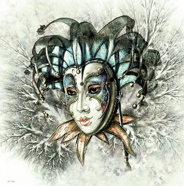 Joyous Mixed Media - Winter Masquerade by G Berry
