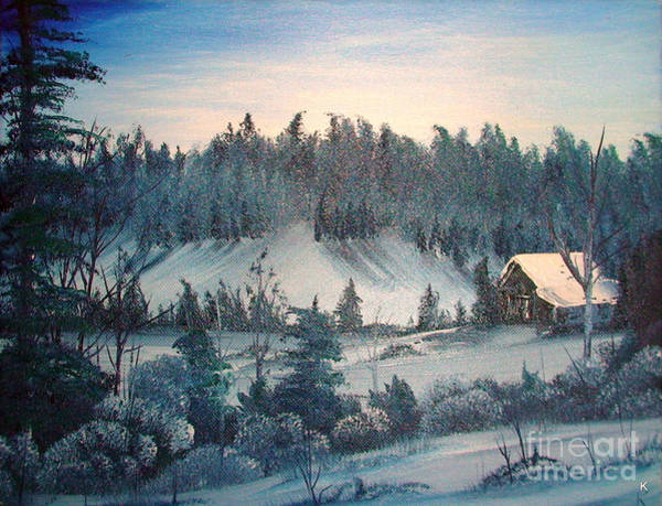 Anglin Wall Art - Painting - Winter Meadow by Kalib Anglin