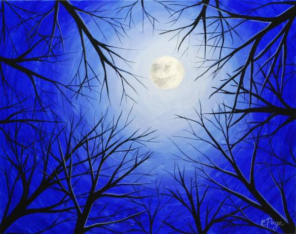 Painting - Winter Moon by Emily Page