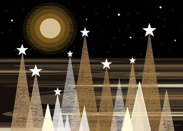 Digital Art - Winter Moon Shine by Val Arie