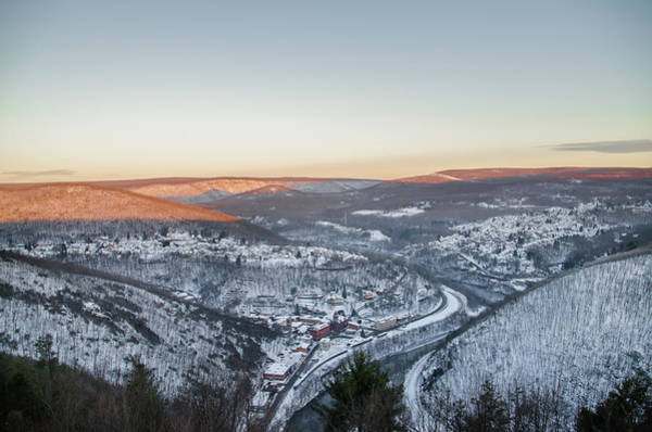Photograph - Winter Morning Above Jim Thorpe Pa by Bill Cannon