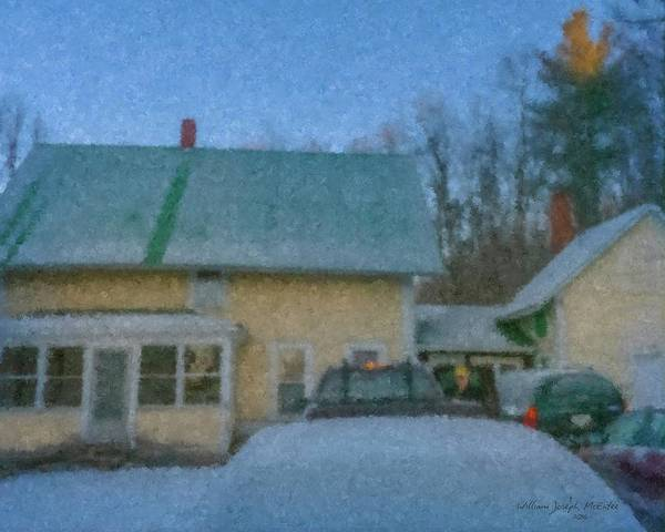 Painting - Winter Morning At Vermont Farmhouse by Bill McEntee