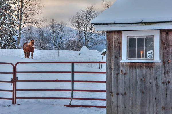 Photograph - Winter Morning - Barn In Snow by Joann Vitali