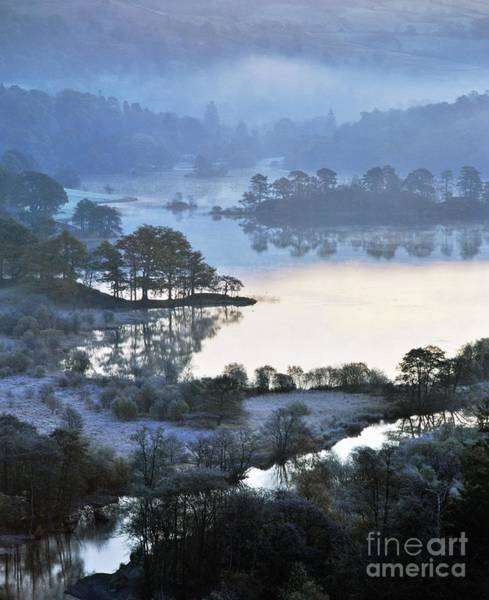 Grasmere Wall Art - Photograph - Winter Morning Frost At Rydal Water. Lake District National Park, England  by David Lyons