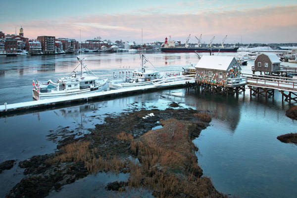 Wall Art - Photograph - Winter Morning In Portsmouth Harbor by Eric Gendron