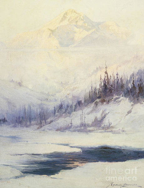 Wall Art - Painting - Winter Morning, Mount Mckinley, Alaska by Sidney Laurence