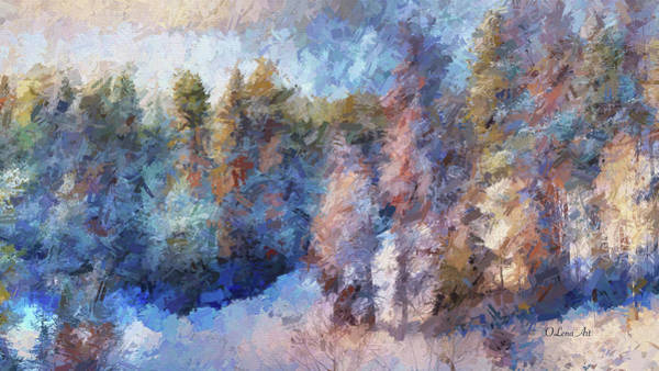 Photograph - Winter Morning by OLena Art - Lena Owens