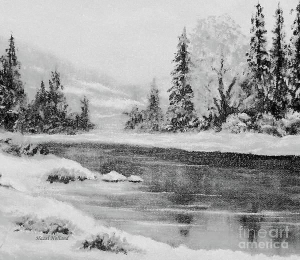 Wall Art - Painting - Winter Morning Reflections by Hazel Holland