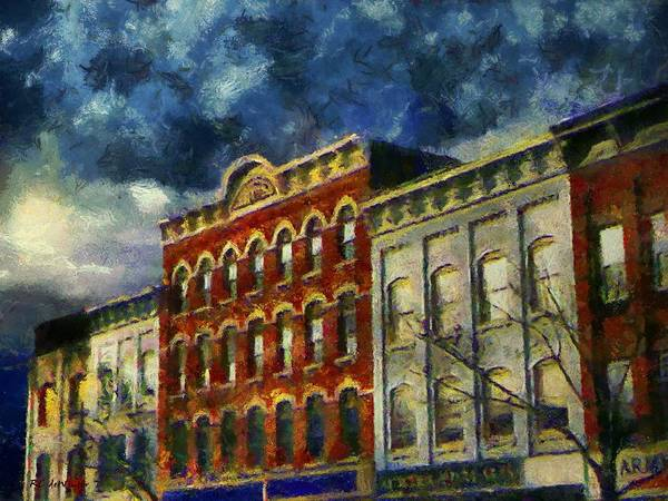 Painting - Winter Night, Northampton by RC DeWinter