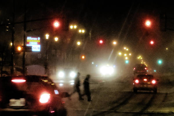 Photograph - Winter Night Traffic by Tatiana Travelways