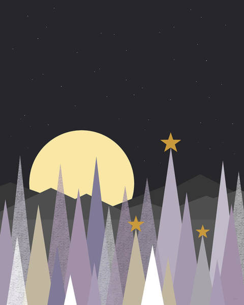 Wall Art - Digital Art - Winter Nights - Vertical by Val Arie