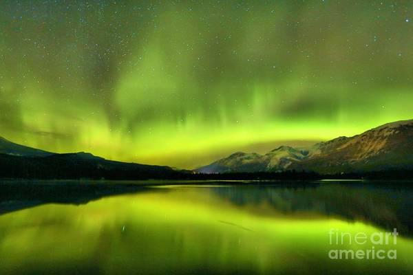 Photograph - Winter Northern Lights by Adam Jewell
