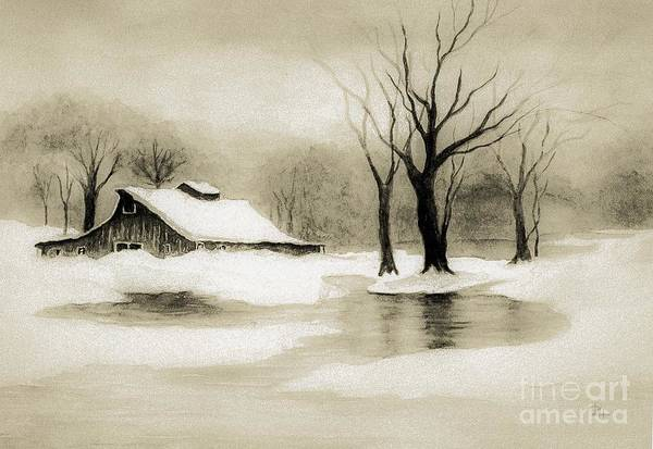 Wall Art - Painting - Winter Nostalgia by Hazel Holland