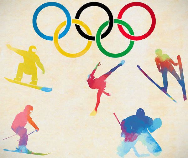 Olympic Figure Skating Painting - Winter Olympics Games by Dan Sproul