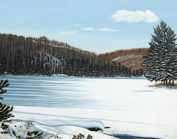 Winter On An Ontario Lake  Art Print