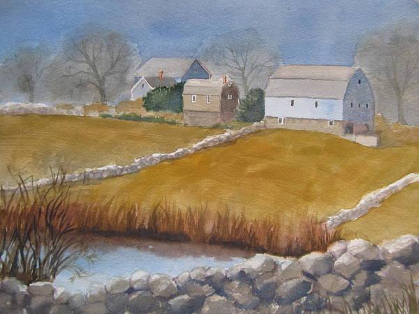 Painting - Winter On Champlin Farm by Sharon Lehman
