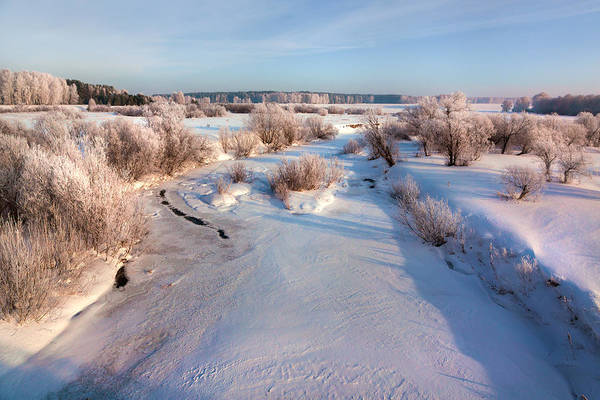 Photograph - Winter On Swan River. Russia by Victor Kovchin