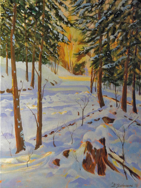 Painting - Winter On The Lane by David Gilmore