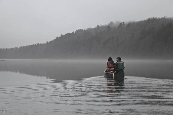 Photograph - Winter Paddle On The Kennebec by John Meader