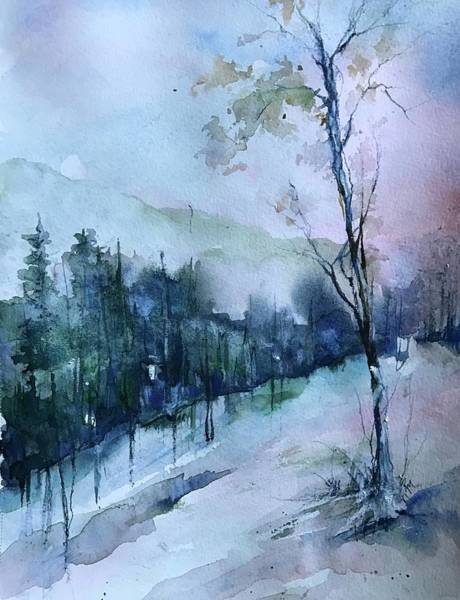 Painting - Winter Paradise by Robin Miller-Bookhout