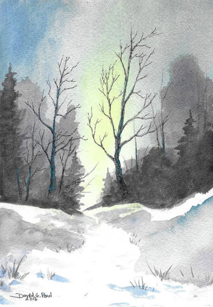 Wall Art - Painting - Winter Path by David G Paul
