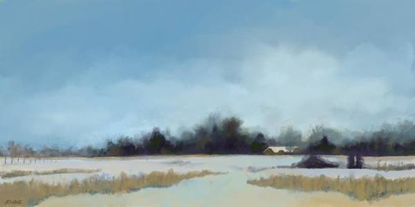 Prairie Home Digital Art - Winter Peace by Jeanne Cutler