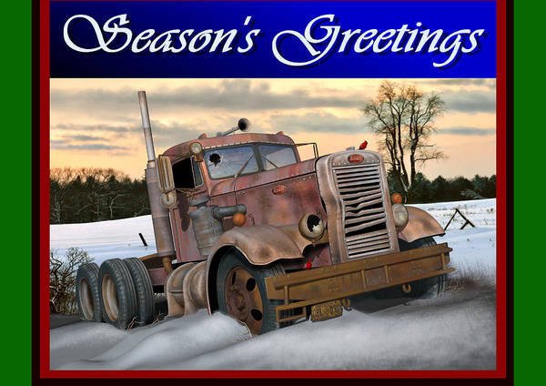 Wall Art - Digital Art - Winter Pete Season's Greetings by Stuart Swartz