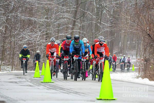 Photograph - Winter Race by Jim West