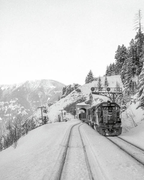 Photograph - Winter Railroading, Oregon by Frank DiMarco