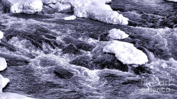 Moving Water Photograph - Winter Rapids by Olivier Le Queinec
