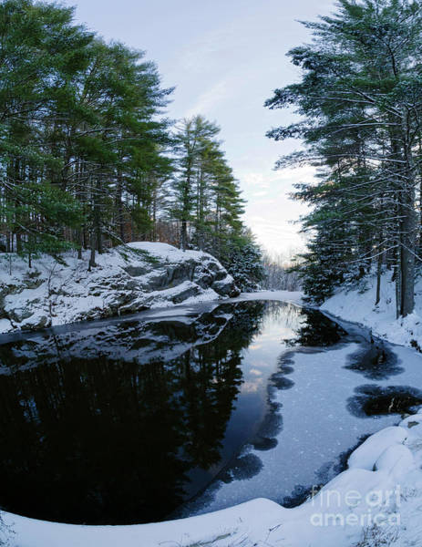 Photograph - Winter Reflected, Durham, Maine #10528 by John Bald