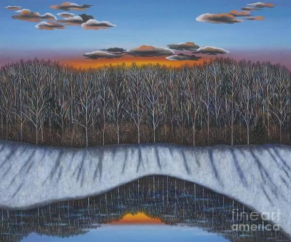 Wall Art - Painting - Winter Reflection by Scott Kahn
