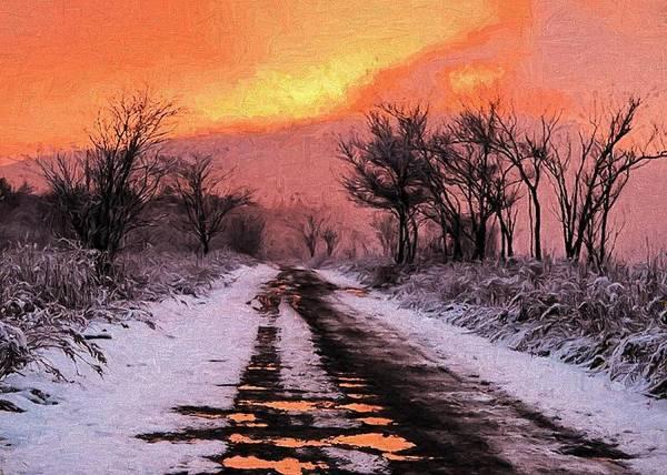 Digital Art - Winter Reflections by Charmaine Zoe