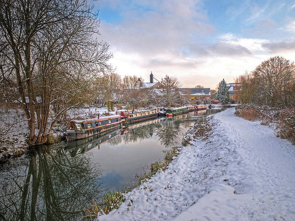 Photograph - Winter Reflections On The River by Gill Billington