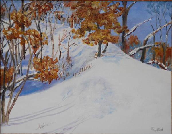 Painting - Winter Ridge by Phil Burton