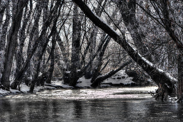 Photograph - Winter River Bend by David Andersen