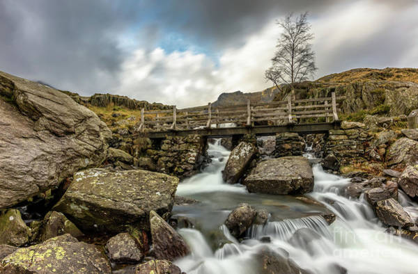 Welsh Photograph - Winter River Rapids by Adrian Evans