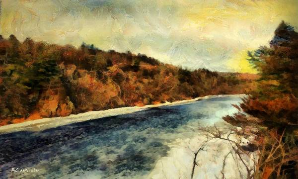 Painting - Winter River by RC DeWinter