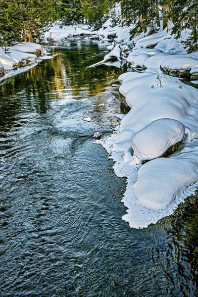Photograph - Winter River Reflections - Yellowstone by Stuart Litoff