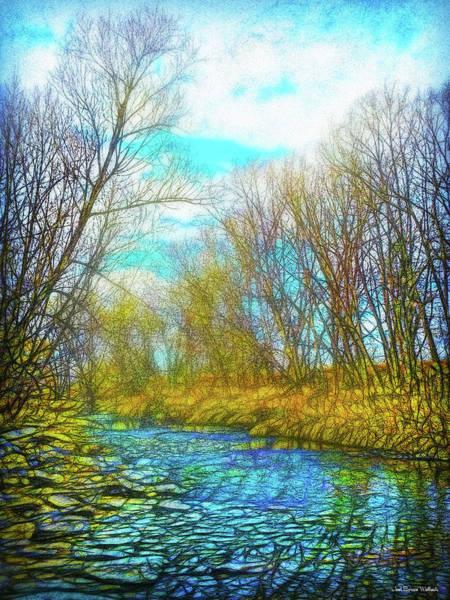 Digital Art - Winter River Rhythms by Joel Bruce Wallach