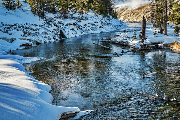 Photograph - Winter River View - Yellowstone by Stuart Litoff