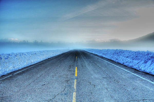 Wall Art - Photograph - Winter Road by Kelly Wade
