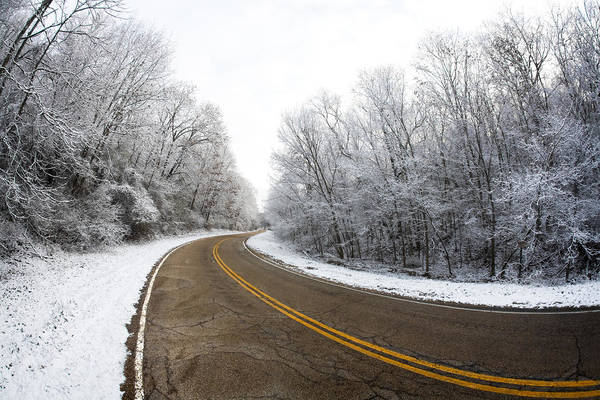 Photograph - Winter Road by Todd Klassy