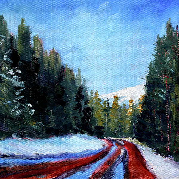 Wall Art - Painting - Winter Road Trip by Nancy Merkle