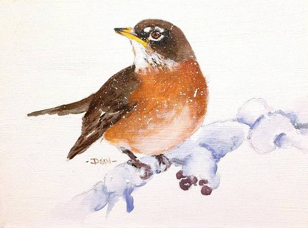 Painting - Winter Robin by Pat Dolan