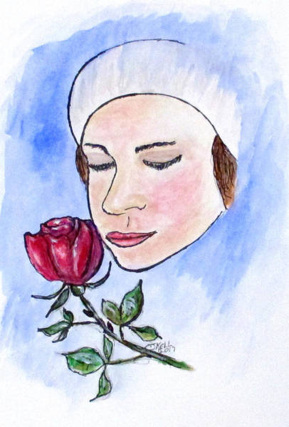 Painting - Winter Rose by Clyde J Kell