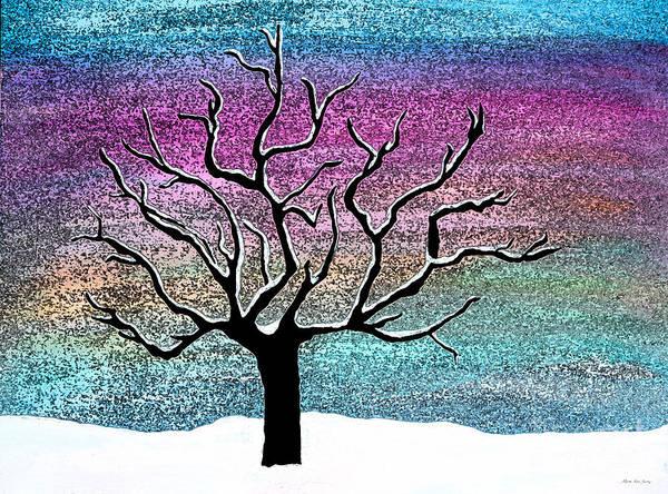 Painting - Winter Scene A311916 by Mas Art Studio